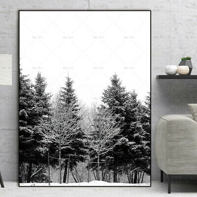 Forest art picture modern wall art painting canvas landscape decor painting