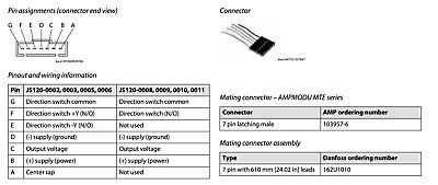 Danfoss 162U1010 Connection Cable for Js 120, 7-pin with 610 mm Lead