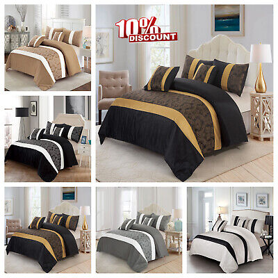 3 Piece Quilted Bedspread Bed Throw With Pillow Shams Single Double King Size