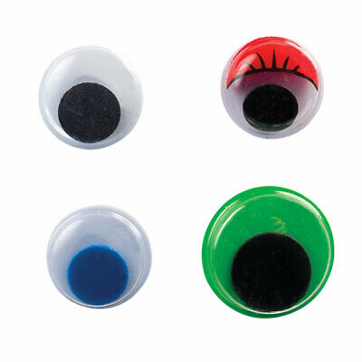 RVFM Wiggly Eyes, Assorted (black, Lashes, Colour Centre and Colour Eyes)