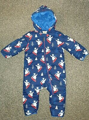2063e2996 Hatley Baby Boys Blue Polar Bear Winter Quilted Snowsuit - Age 12-18 Months.