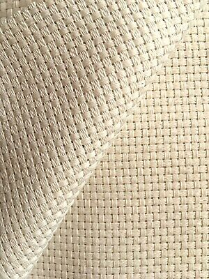 Natural cream 7 count Monks Cloth Zweigart fabric 50 x 70cm stitch/ punch needle