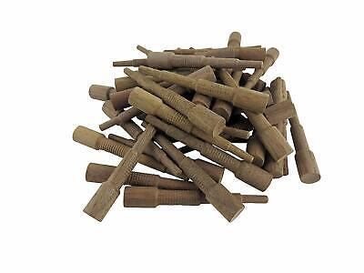 """Miller Dowel Pack 100 Each 2x Stepped Walnut Dowels for Stock up to 1-5/8"""" Thick"""