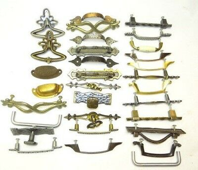 Antique & Vintage Drawer Pulls Handles Lot Used Old Dresser Stove Parts Hardware