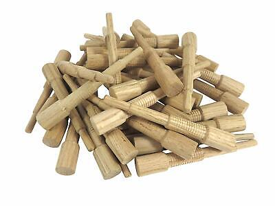 """Miller Dowel Pack 100 Each 1x Stepped Oak Dowels for Stock up to 1"""" Thick"""