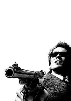 DIRTY HARRY Movie PHOTO Print POSTER Film 1971 Clint Eastwood Textless Art 001