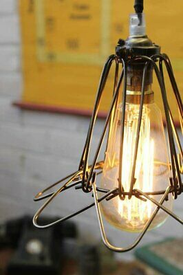 Wire Cage Industrial Pendant - Trouble Light