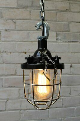 Cage Light Industrial Pendant - Chain