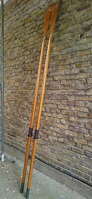 Vintage Pair ' D.a.'  2.93 Metres  Wooden Boat Scull Oars  - Delivery Possible
