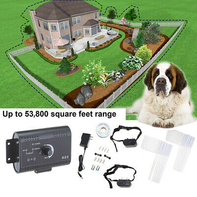 Wireless Electric Pet Dog Transmitter Collar Fence Containment Waterproof System