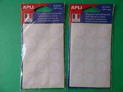 210 PASTILLES Rondes  Blanches   19 mm   AGIPA