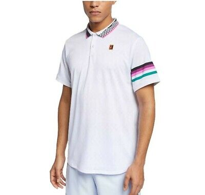 2465c162f NIKE COURT BREATHE Advantage Tennis Polo Mens Roger Federer RF ...