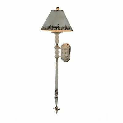The Fisher Farmhouse Wall Sconce in Aged White Finish