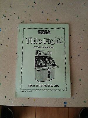 SEGA Title Fight Original Owner´s Manual