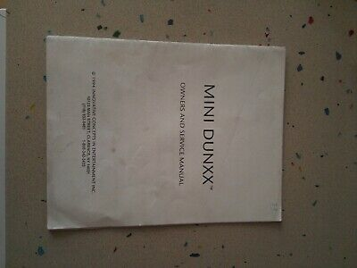 Innovate Concepts Mini Dunxx Original Owner´s  & Service MAnual