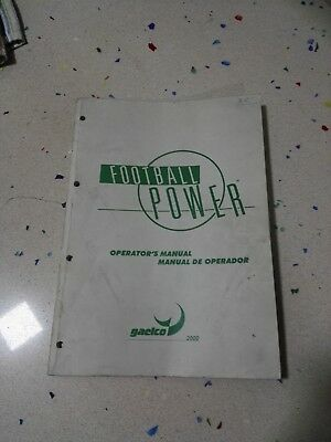 GAELCO Football Power Original Operator Manual