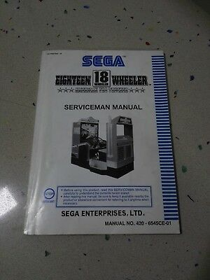 SEGA Eighteen Wheeler Original Serviceman Manual