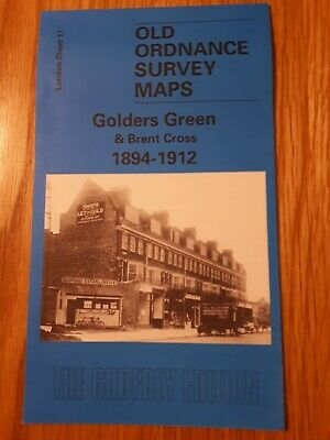 Old Ordnance Survey Map - Golders Green & Brent Cross 1894 -1912 - A Godfrey Map