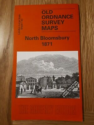 Old Ordnance Survey Map - North Bloomsbury 1871 - Alan Godfrey Map