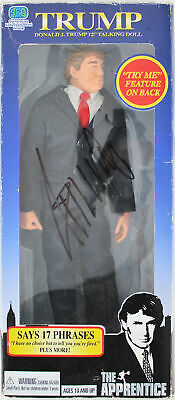 """Donald J. Trump Authentic Signed The Apprentice 12"""" Talking Doll BAS #A88687"""