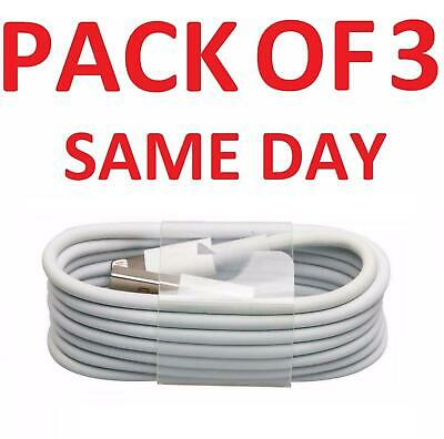 3X USB Lightning Charger & Data Sync Cable Lead For Apple iPhone 5 5s 6 7 8 Plus