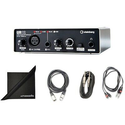 Steinberg UR12 USB Recording, Podcast Audio Interface w/ Cubase AI DAW & Cables