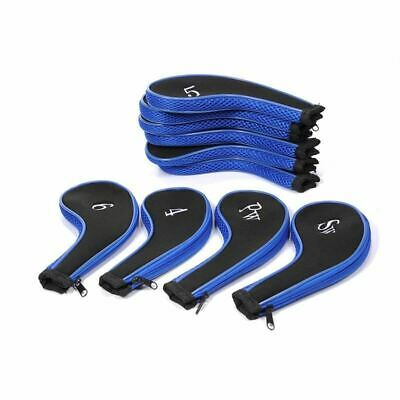 10 Pcs Golf Club Head Cover Iron Putter Headcover Protect Set Number Printed Wit