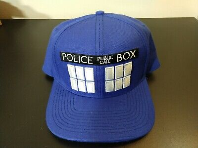 Doctor Who Blue Tardis Hat Cap LICENSED NEW Bioworld / Hot Topic