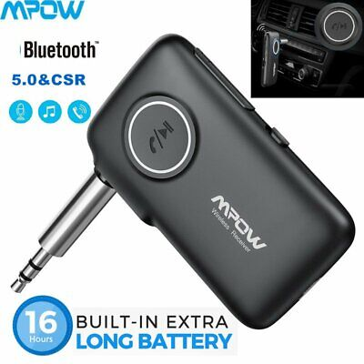 Mpow Wireless Bluetooth V5.0 3.5mm AUX Audio Stereo Music Car Receiver Adapter