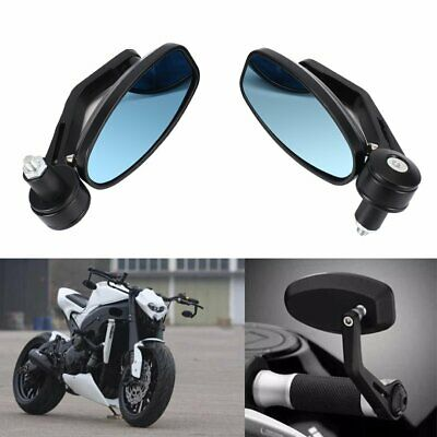 "2PCS Motorcycle 7/8"" Handle Bar End Rearview Side Mirrors Fit Honda Yamaha KTM M"