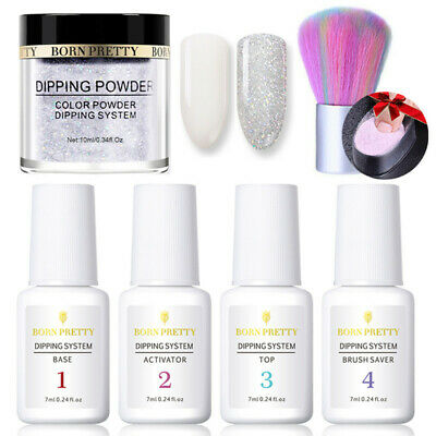 7Pcs/Set BORN PRETTY Dip System Liquid Dipping Powder Nail Art Pro Starter Kits