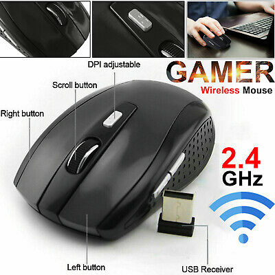 4868bb960f1 2.4GHZ Wireless Mouse Cordless Optical Scroll Mouse Fr PC Laptop with USB  Dongle