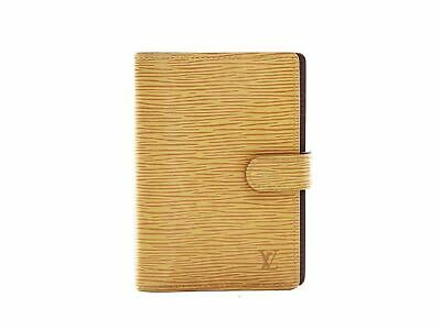 Authentic Louis Vuitton yellow epi Agenda PM notebook cover