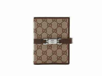 Authentic Gucci Web GG Logos Pattern Agenda Notebook Cover
