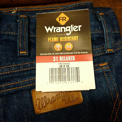 50415e90 NEW Wrangler Men's Jeans FR Flame Resistant 31 Relaxed-Fit Jeans 36 x 34  FR31MWZ