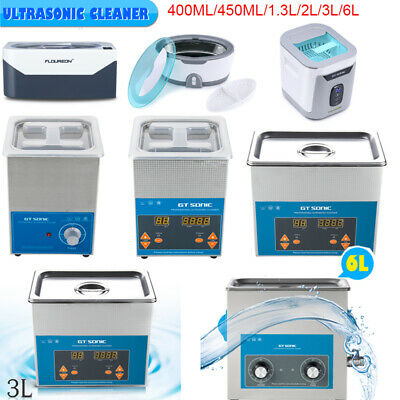 400ml-6L Stainless Ultrasonic Cleaner Ultra Sonic Bath Cleaning Timer Tank Heat
