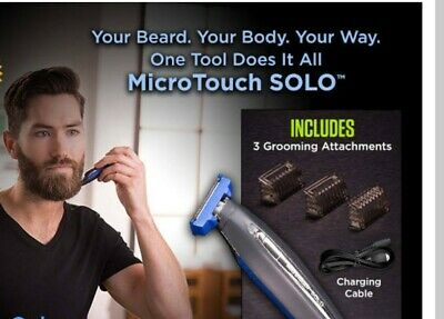 Rechargeable Shaver Trimmer Solo And Edger Micro Touch Razor Men Electric