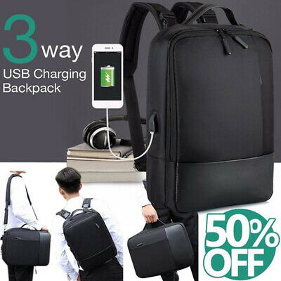 15.6inch Anti-theft Laptop Backpack with USB Charger Port Travel Business Bag AU