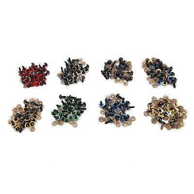 100x EYES with PLASTIC BACKS for   Making Soft Toy Doll Animal L G0HEX