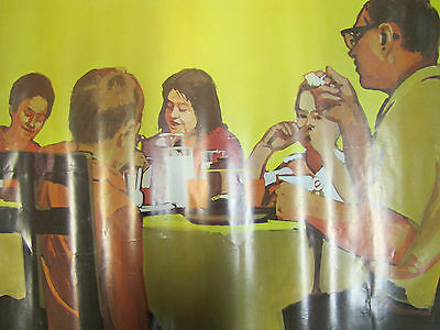"""1968 National DAIRY Council Poster """"Enjoying Milk Every Meal"""" Farm Ad"""