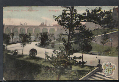 Cheshire Postcard - Hollywood Park & Viaduct, Stockport   RS14966