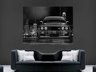 Bmw E30 M3 Poster Print City Skyscrapers Speed Racing Tuned Wall Art