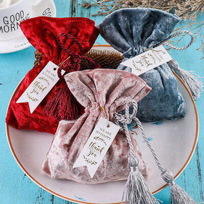 AU Wedding Xmas Gift Bags Candy Sweet Jewellery Pouch Party Favors Soft Velvet