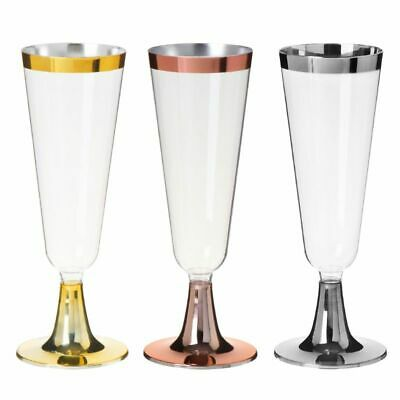 6pcs Disposable Plastic Red Wine Glass Champagne Flute Cocktail Party Drink Cups