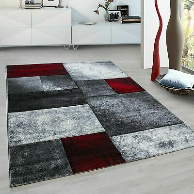 Red 1710 Montage Heavy Hand Carved Rug Living Room Floor Carpet Rugs