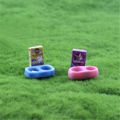 1/12 scale Doll House Miniature Kitchen Garden Pet Dog Food on Bowl ZFXB