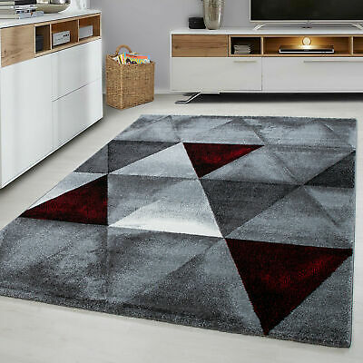 Red 1820 Pyramid Heavy Hand Carved Rug Living Room Floor Carpet Rugs