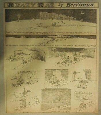 Krazy Kat Sunday by George Herriman from 8/31/1930 Tabloid Size Page