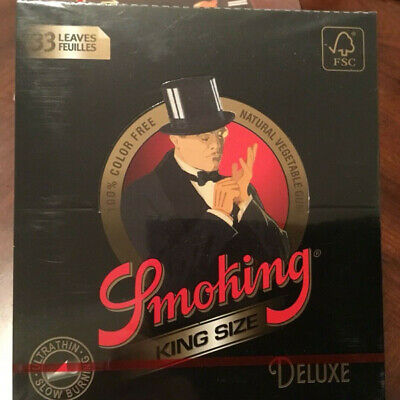 5 Booklets Smoking King Size Deluxe Ultralight Rolling Papers Tobacco Cigarette