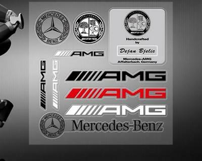 10PC AMG Car Strips Stickers Decal Badge Emblem For Mercedes Benz C250 E350 SL
